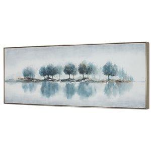Toile peinte à la main Gild Design House Bois bleus, 31 po x 73 po