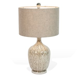 Lampe de table Audrina Gild Design House grise, 27 po