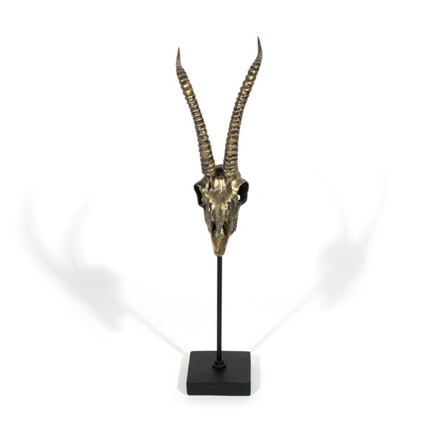 Crâne d'antilope décoratif Mazi Gild Design House