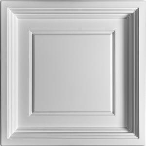 Tuiles de plafond décoratives Ceilume Madison blanche, 2 pi x 2 pi , paquet de 4