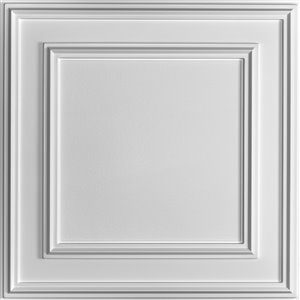 Ceilume Cambridge White Ceiling Tiles 2-ft x 2-ft - Pack of 4