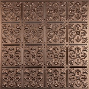 Ceilume Fleur de Lys Bronze Ceiling Tiles 2-ft x 2-ft - Pack of 4