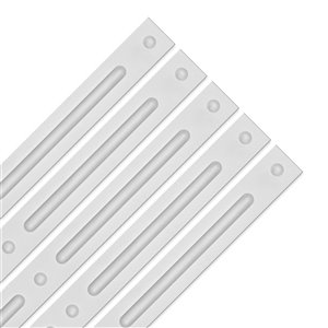 Bandes de décoration Ceilumeblanche auto-adhésives, 24 po x 1 po