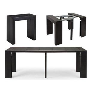 Table de salle à manger extensible Transformable Table, 18 po à 118 po