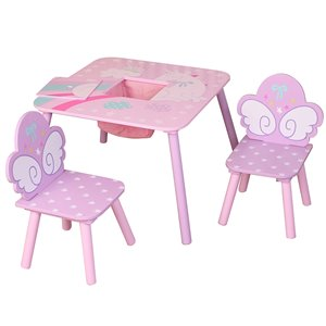Danawares Unicorn Square Table with 2 Chairs and Storage Bag for Childs