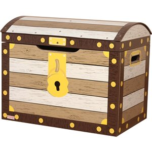 Danawares Pirate Toy Box with Safety Hinges - 14.5-in x 17-in x 21.5-in