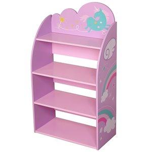Bibliothèque licorne Danawares pour enfants, 4 étagères, 36 po x 21 po