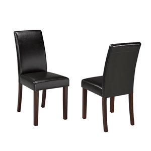 Brassex Dining Chair Dark Brown - Set of 2