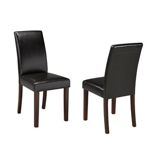 Chaise de salle à manger Brassex, ensemble de 2, brun