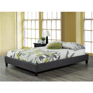 Brassex Queen Platform Bed Frame -  Grey