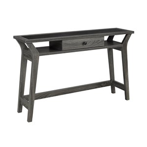 Brassex Console Table with Storage in Grey - 47.25-in x 30-in