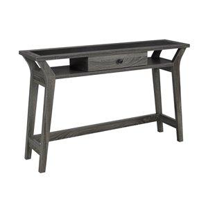 Table console Brassex à tiroir de rangement gris, 47,25 po x 30 po