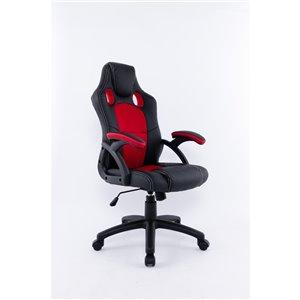 Brassex Ergonomic High-Back Executive Office Chair Black/Red
