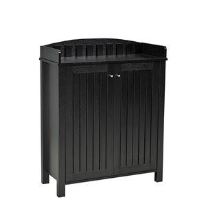 Brassex Multi-Tier Shoe Cabinet Black - 12-Pair Capacity - 15.25-in x 33.5-in