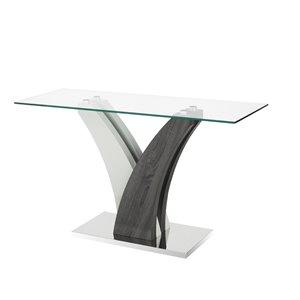 Table d'appoint Jerome de Brassex gris et blanc, 50 po x 29,53 po x 18,11 po