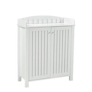 Brassex Multi-Tier Shoe Cabinet White - 12-Pair Capacity - 15.25-in x 33.5-in