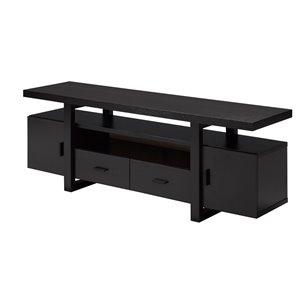 Brassex 60-in TV Stand with 4 Storage Drawers - Dark Cherry