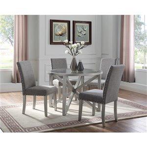 Brassex Bella 5-Piece Kitchen Set - Silver/Light Grey