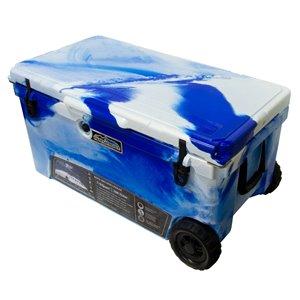 Glacière rotomoulée de ProFrost, 104 L, bleu/blanc