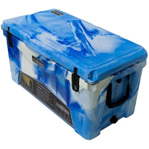 Glacière rotomoulée de ProFrost, 70 L, bleu/blanc