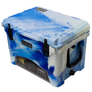 Glacière rotomoulée de ProFrost, 33 L, bleu/blanc