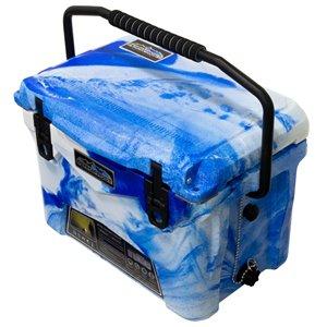 Glacière rotomoulée de ProFrost, 19 L, bleu/blanc