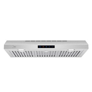 Streamline Ducted Under Cabinet Kitchen Range Hood - 30-in - Stainless