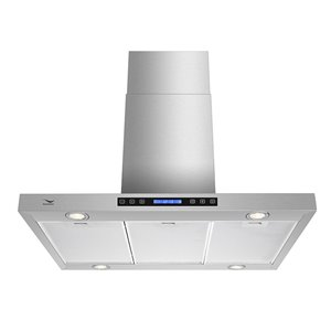 Streamline Convertible Modern Island Range Hood - 36-in - Stainless