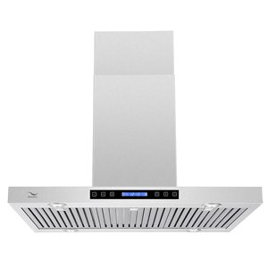Streamline Ducted Island Kitchen Range Hood - 36-in - Stainless