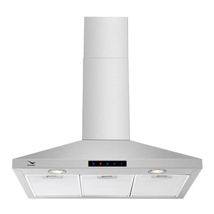 Streamline Convertible/Wall Mount Kitchen Range Hood - 30-in - Stainless