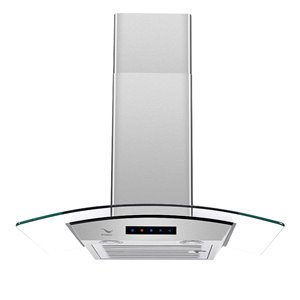 Streamline Ducted/Wall-Mount Kitchen Range Hood - 30-in - Stainless