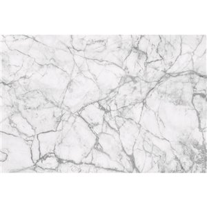 Dimex White Marble Wall Mural - 12-ft 3-in x 8-ft 2-in