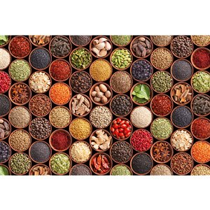 Dimex Spice Bowls Wall Mural - 12-ft 3-in x 8-ft 2-in