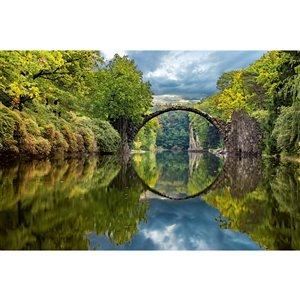 Papier peint pont en arc de Dimex, 12 pi 3 po x 8 pi 2 po