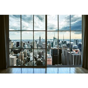 Dimex Manhattan Window View Wall Mural - 12-ft 3-in x 8-ft 2-in