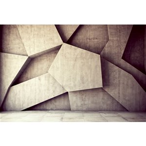 Dimex Concrete Background Wall Mural - 12-ft 3-in x 8-ft 2-in