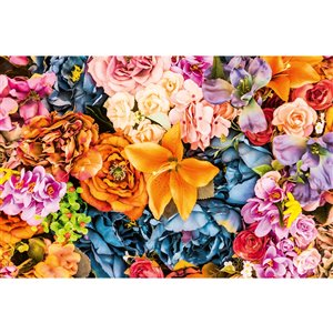 Dimex Vintage Flowers Wall Mural - 12-ft 3-in x 8-ft 2-in