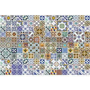 Dimex Portugal Tiles Wall Mural - 12-ft 3-in x 8-ft 2-in