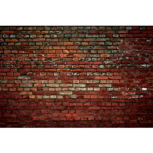 Dimex Brick Wall Wall Mural - 12-ft 3-in x 8-ft 2-in