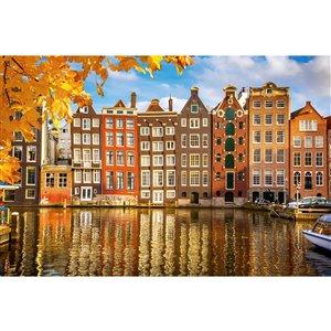Papier peint maisons à Amsterdam de Dimex, 12 pi 3 po x 8 pi 2 po