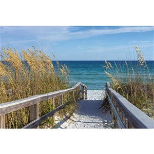 Dimex Sandy Boardwalk Wall Mural - 12-ft 3-in x 8-ft 2-in