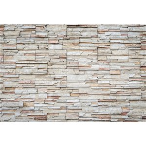 Dimex Travertine Wall Mural - 12-ft 3-in x 8-ft 2-in