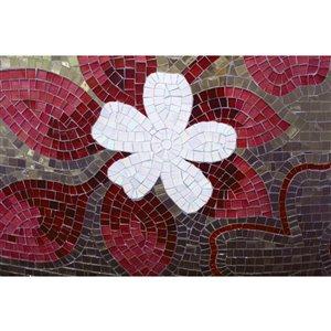Papier peint mosaïque rouge de Dimex, 12 pi 3 po x 8 pi 2 po