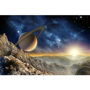 Dimex Spacescape Wall Mural - 12-ft 3-in x 8-ft 2-in