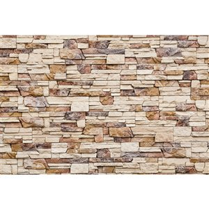 Dimex Stone Wall Wall Mural - 12-ft 3-in x 8-ft 2-in