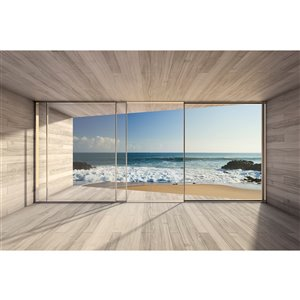 Dimex Large Window Wall Mural - 12-ft 3-in x 8-ft 2-in