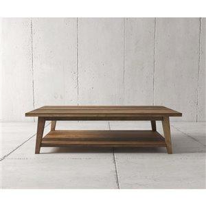 Urban Woodcraft Citation Rectangular Coffe Table - 51-in - Natural Teak