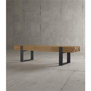 Urban Woodcraft Halifax Rectangular Coffe Table - 55-in - Natural Teak