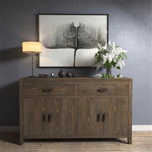 Urban Woodcraft Britain Buffet - 60-in - Pine - Salvaged Espresso
