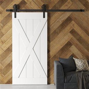 Urban Woodcraft Elements Prefinished MDF Single Barn Door - 40-in x 83-in - White